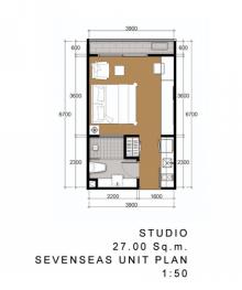 Seven Seas 間取図 スタジオ 27平米