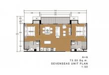 Seven Seas 間取図 2ベッドルーム(73平米)