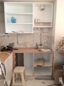 キッチン(クッキングコンロの位置)