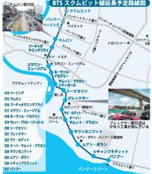 BTSスクムビット線延長計画路線図